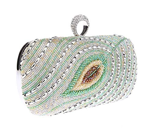 Chain Party Handmade Handbag With Clutch Strap Rhinestones Women's Evening B Embroidery Detachable Purse Bag Crystal 7wTYq