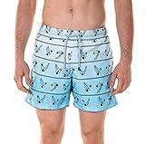 Spenglish Men's Diver 4.5'' Swim Trunks, Light Blue, L