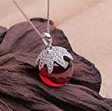 Women's Garnet Stone Fruits Beautiful Pendant Necklace