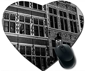 Antwerp City Buildings Black And White Mouse Pad Desktop Mousepad Laptop Mousepads Comfortable Office Of Mouse Pad Mat Cute Gaming Mouse Pad