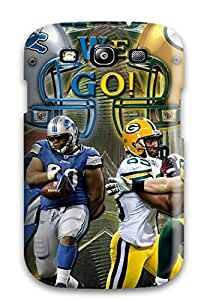 Protective Tpu Case With Fashion Design For Galaxy S3 (detroit Lionsreenay Packers )
