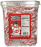 Bobs Red & White Mini Peppermint Candy Canes, 280 Count Tub, 43 oz