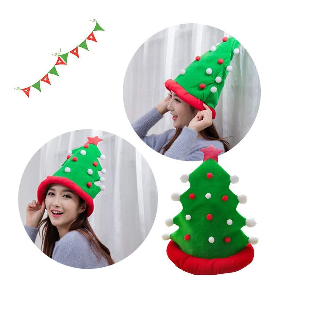 c09760cd78db8 Amazon.com   Midress Christmas Tree Hat Beanie Knit Cap