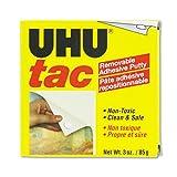 UHU - Tac Adhesive Putty, Removable/Reusable, Nontoxic, 3 oz Each 99681 (DMi EA