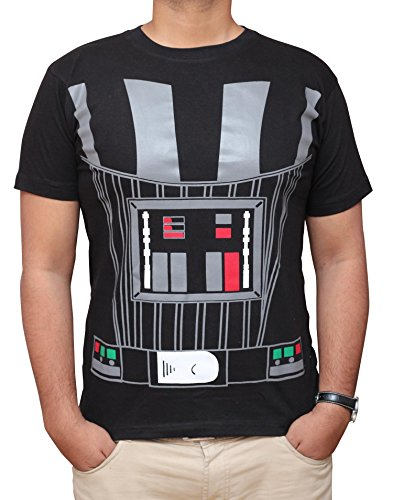 Miracle(Tm) Star Wars Shirt - Darth Vader Shirt Costume Cotton T-Shirt (Medium) - Darth Vader Costumes T-shirt