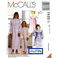McCall s 7430 Sewing Pattern Girls Robe Pajama Top Pants Nightgown  Nightshirt Size 10 - 12 - 9e74d662d