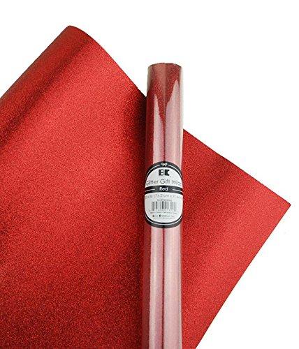 Best Creation Glitter Gift Wrap, 30 x 36-Inch, Red