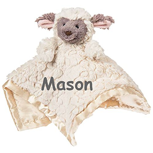 Mary Meyer Personalized Putty Nursery Baby Lamb Character Blanket Snuggle Blanky - 13 Inches