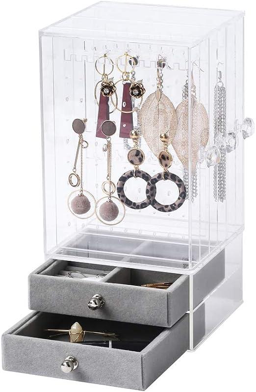 Biutee Jewelry Box For Women Jewelry Organizer Necklace Earrings Bracelet Hanger Acrylic Display Storage Case Decor Gifts Amazon Ca Home Kitchen