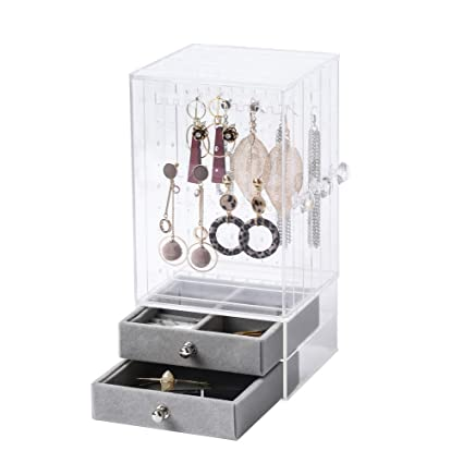 7406e35e518d Amazon.com: BiuTee Jewelry Box for Women Jewelry Organizer Necklace  Earrings & Bracelet Hanger Acrylic Display Storage Case Decor Gifts for  Girls, ...