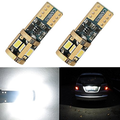 Alla Lighting T10 Wedge CANBUS Error Free Xtremely Super Bright 6000K White High Power 3623 9-SMD LED Lights Bulbs w/ Aluminum Heat Dissipation for License Plate Interior Map Dome Side Marker Light