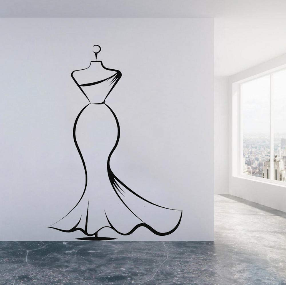 Wall Sticker Formal Dress Vinyl Wall Stickers Home Decor Living Room Modern Home Decoration Wall Decals Simple Elegant in Style Murals 42x60cm