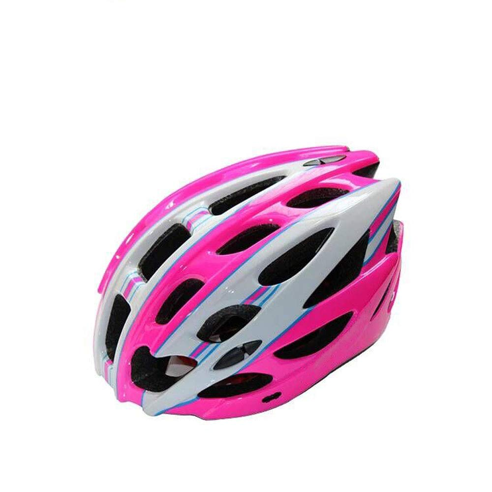 Casque casque vélo unisexe ventilé montagne casque ultra léger un casque (Couleur : Rose)