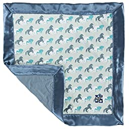 KicKee Pants Little Boys Print Lovey Aloe Wild Horses, One Size