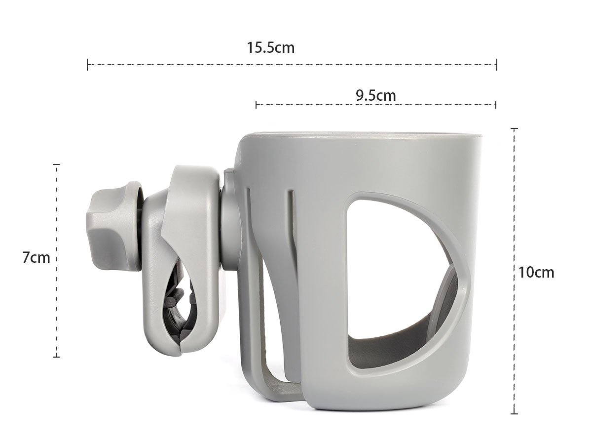 Dreamsoule Universal Stroller Clip Cup Holder Baby Feeding Bottle Rack Holder Fits Most Strollers//Wheelchairs//Rollators//Walkers//Bicycles//Carriage Accessory
