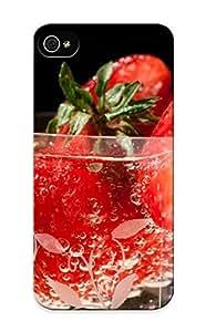 New Strawberries Tpu Case Cover, Anti-scratch Storydnrmue Phone Case For Iphone 5/5s