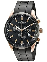 Claude Bernard Men's 10222 37RNCA NIR Aquarider Analog Display Swiss Quartz Black Watch