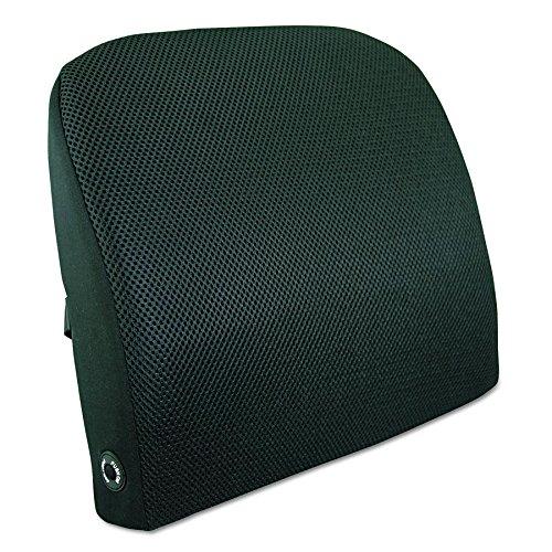 Advantus Memory Foam Massage Lumbar Backrest Cushion, Black