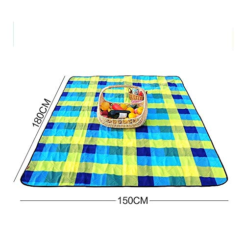 DEED Picnic Blankets-Oxford Composite PVC Tourists Outdoor Picnic Mat Large Portable Tear-Proof Moisture Pad Cooling Mat