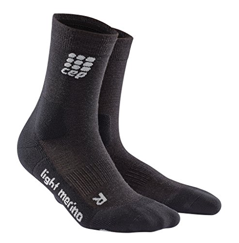 CEP Womens Dynamic+ Outdoor Light Merino mid-Cut Socks, Lava Stone, 3