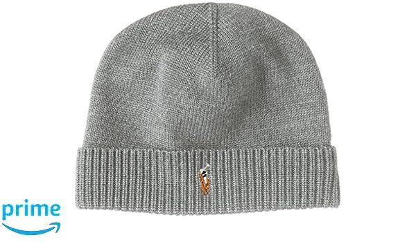 723c489d610a8 Polo Ralph Lauren Men s Beanie Watch Cap Merino Wool Grey at Amazon Men s  Clothing store