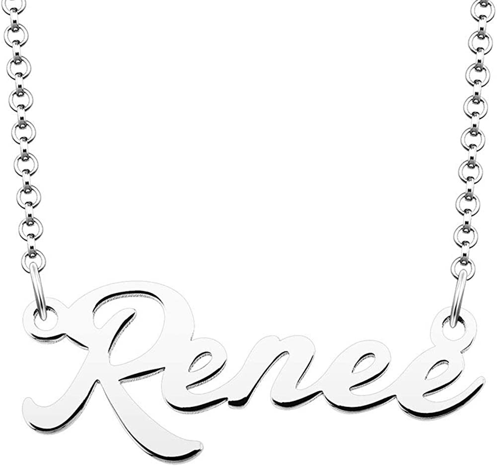 DemiJewelry Sterling Silver Personal Name Necklace Customized Personalized Gift for Women Girls