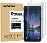 """[3 Pack]Tonvizern for Samsung """"Galaxy S8 Active"""" Tempered Glass Screen Protector(Not Fit For Galaxy S8 / S8 Plus) , Anti-Scratch Ultra Clear 9H Premium 0.26mm HD Bubble Free"""
