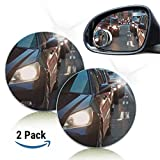 Mchoice Fit Car Small Round Mirror Blind Spots Rearview Reverse Auxiliary Lens No Border