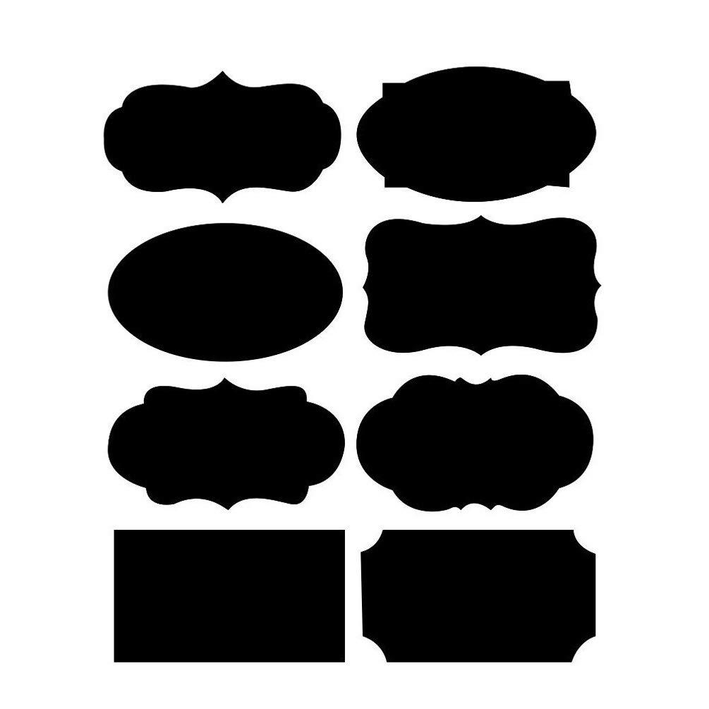 Tableau noir étiquettes réutilisable, tableau noir Tableau noir étiquettes kit, 80pcs Stickers