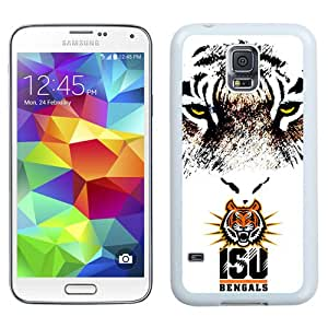Fashionable And Unique Custom Designed With NCAA Big Sky Conference Football Idaho State Bengals 2 Protective Cell Phone Hardshell Cover Case For Samsung Galaxy S5 I9600 G900a G900v G900p G900t G900w Phone Case White