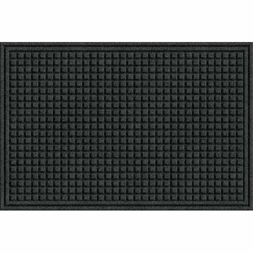 Eco Mat Squares Entrance Door Mat, 2-Feet by 3-Feet, Onyx (Recycled Square Plastic)