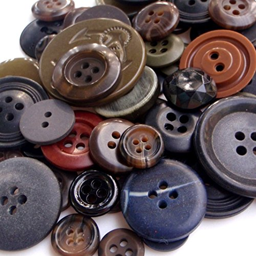 sewing buttons gray - 3