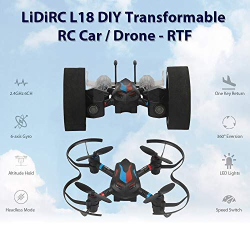 New 6ch Rc Flight Simulator - JSPOYOU LIDIRC L18 Drone 2.4G 6CH 6-Axis Mini RC Gyro Air Force Aircraft Without Camera