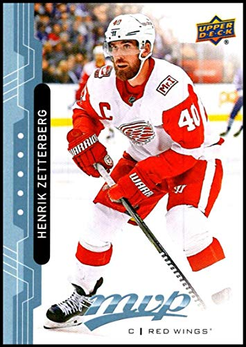 2018-19 Upper Deck MVP Blue Factory Set Hockey #40 Henrik Zetterberg Detroit Red Wings Official NHL Trading Card from UD