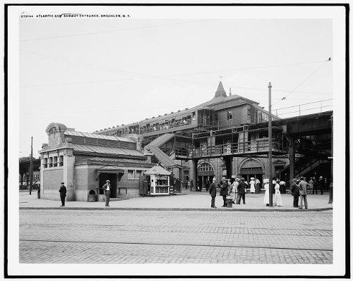 Photo: Atlantic Avenue,subway entrance,elevated railroads,Brooklyn,New - Shopping Atlantic Avenue
