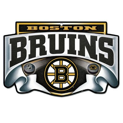 WinCraft NHL Boston Bruins Sign11x17 Wood Slogan Sign, Team Colors, One Size