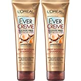 L'Oréal Paris EverCreme Deep Nourish Sulfate Free Shampoo, with Apricot Oil, 8.5 Ounce Tube (Pack of 2)