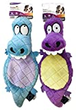 TrustyPup Dog Toys Value Pack: Lizards Plush Toy 2 pack, Blue/Purple