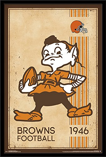 Trends International Cleveland Browns-Retro Logo Wall Poster, 24.25