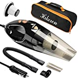 Car Vacuum Cleaner, Hikeren DC 12-Volt 106W Wet&Dry Handheld Auto Vacuum Cleaner,16.4FT(5M) Power Cord with 2 HEPA Filters,One Carry Bag (Black) Upgraded Version