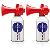 Air Horn for Boating, Sports, Safety. Loud & Effective Boat Signal & Shoreline Marine USCG Rated - Appropriate for Any Purpose - Non-Flammable, Ozone Safe. (2-Pack 8oz)