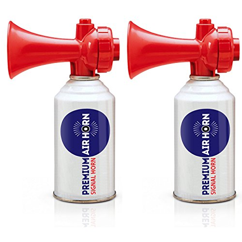 K3 Brands USCG Rated Premium Air Horn - Non-Flammable, 2-Pack 8oz