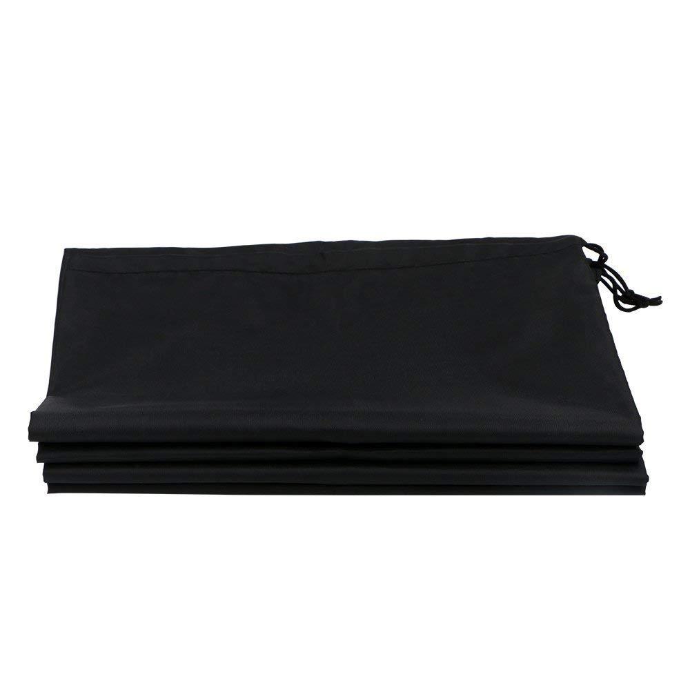 10 bolsas de zapatos negras port/átiles a prueba de polvo a prueba de humedad transpirable viaje organizador de zapatos bolsas de almacenamiento cord/ón no tejido para zapatos botas bolsas 285*36 cm