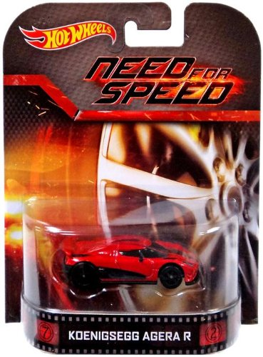 Koenigsegg Agera R 'Need For Speed' Hot Wheels 2014 Retro Series Die Cast Vehicle Mattel