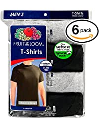 Men's Stay Tucked Crew T-Shirt - XX-Large - Black & Grey...