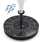 IDABAY Solar Fountain 7V/1.4W Pool Waterscape Floating Lotus Leaf Fountain with 4 Nozzles for Outdoor Watering Submersible Pump, Garden, Pool, Pond, Patio Ideal Decoration