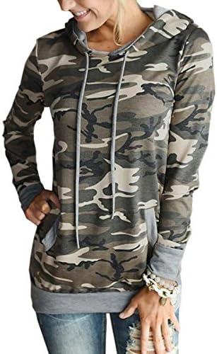 Angashion Hoodies Tops Printed Drawstring Sweatshirt product image