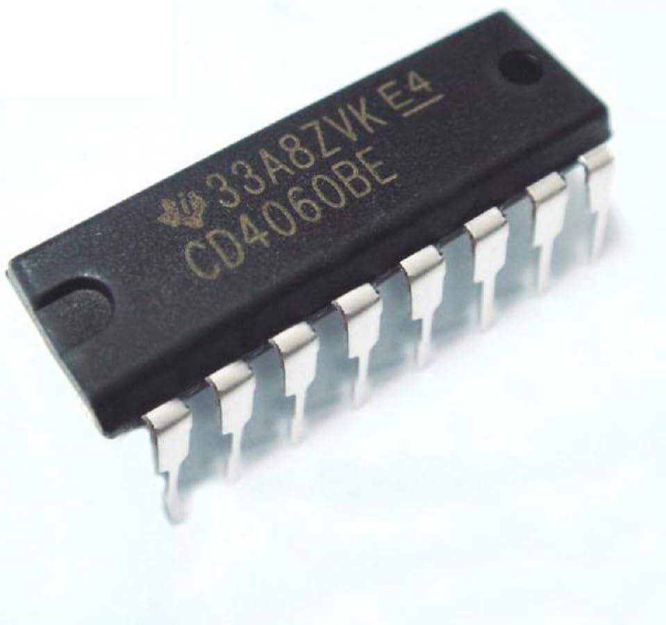 10PCS CD4060BE CD4060 4060 Ripple Carry Binary Counter IC DIP-16 pin Low Power