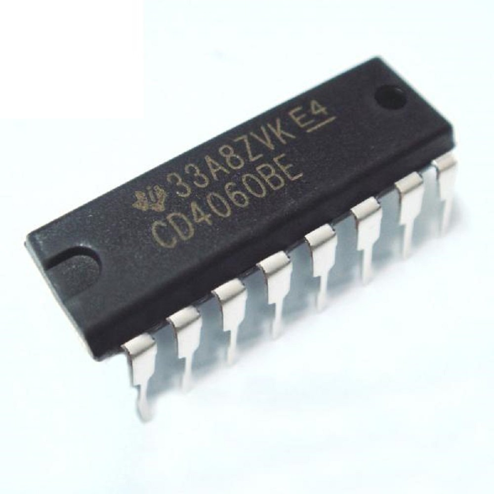 Texas Instruments Cd4060be Cmos 14 Stage Ripple Carry Electronics Circuit Free Electronic Timer Circuits With 4060b Binary Counter Divider And Oscillator Pack Of 2 Computers Accessories