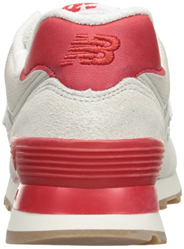 New Balance WL 574 B RSA Sea Salt Red Gris
